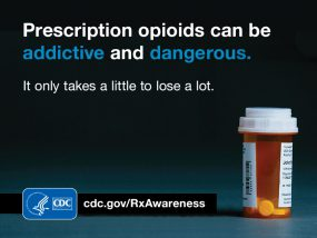 Reduce Overdose Risk - Visit https://www.cdc.gov/RxAwareness/